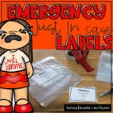 Back to School Editable Emergency Just in Case Clothes Labels
