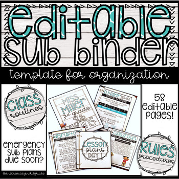 Editable Emergency Sub Binder