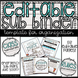 Editable Sub Binder Rustic Wood and Turquoise