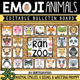Editable Emoji Animal Bulletin Board
