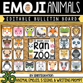 Editable Emoji Animal Bulletin Board
