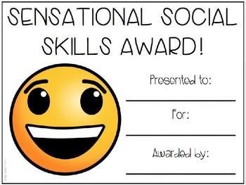 Editable Emoji Awards for Speech & Language