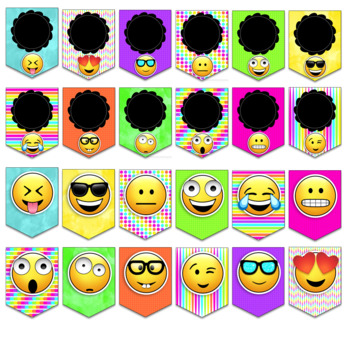 Editable Classroom Decor Emoji Banner