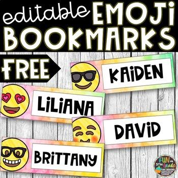 Editable Emoji Bookmarks [FREE]