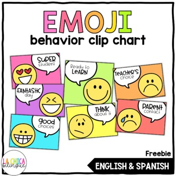 Editable Emoji Clip Chart {FREEBIE}