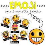 Small Emoji Nametags {Editable} Back to School Classroom O