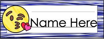 Editable Emoji Name Plates