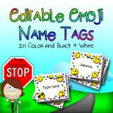 Editable Emoji Name Tags {The Teacher Stop}