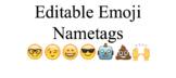 Editable Emoji Nametags