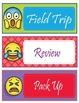 Emoji Theme Schedule Cards - EDITABLE