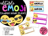 Editable Emoji Student Name Plates