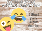 Editable Emoji Student Name Tags