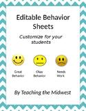 Editable Emotion Face Behavior Charts