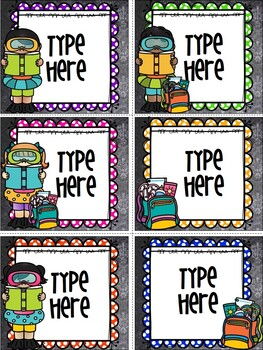 End Of Year Gift Tags For Students-Editable