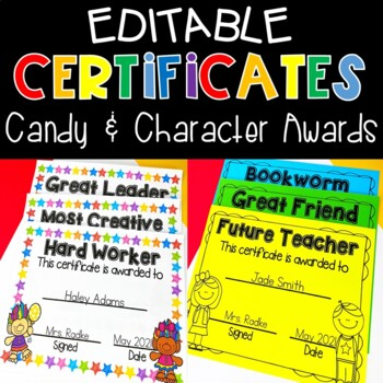 Editable End Of Year Certificates & Awards