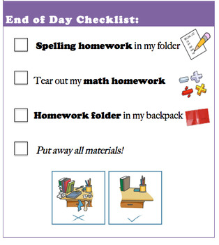 Editable End of Day Checklist