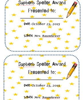 Editable End of Quarter Awards