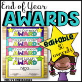 Editable End of Year Awards