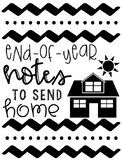 Editable End-of-Year Notes to Send Home