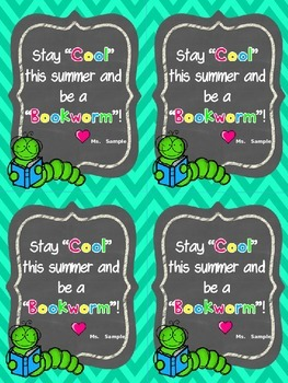 Editable End of Year  Student Gift Tags
