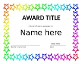 Editable End of the Year Award Templates
