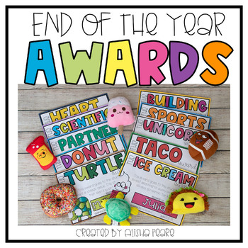 Editable End of the Year Awards FREE