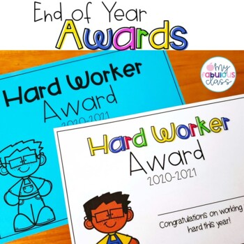 Editable End of the Year Awards in Color and B/W