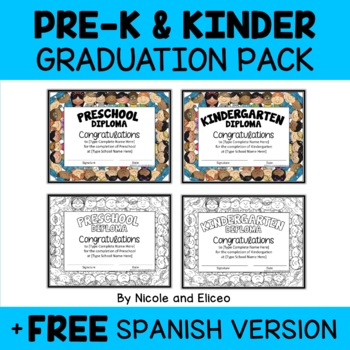 Kindergarten Graduation Invitations and Diplomas