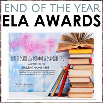 Editable End of the Year ELA Awards