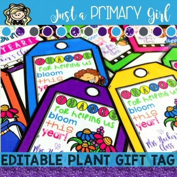 Editable End of the Year Gift Tag