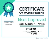 Editable End of the Year Student Awards #spedprepsummer3