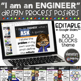 Editable Engineering Design Process Posters STEM Classroom Decor - Bold Blocks