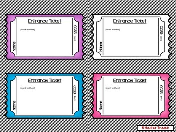 Editable Entrance & Exits Slips