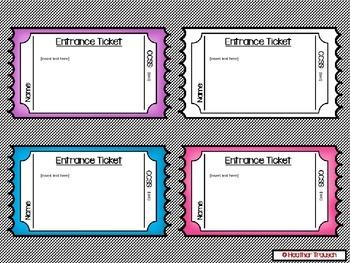 Editable Entrance & Exits Slips