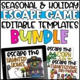 Editable Escape Room Templates - Growing Bundle