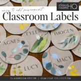 GUM LEAF Editable Classroom Labels + Signs - Eucalyptus