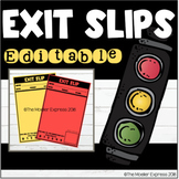 Editable Exit Slips - Daily Formative Assessment Slips - Math - ELA - Science