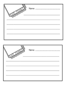 Editable Exit Ticket