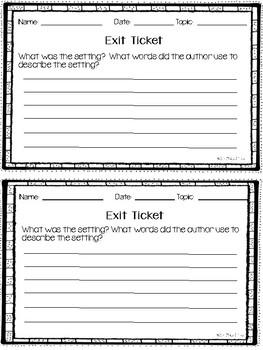 Editable Exit Tickets
