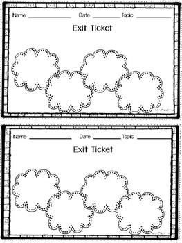 Exit Tickets - Editable