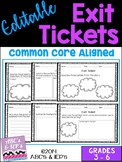 Exit Tickets - Editable