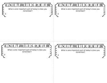 Editable Exit Tickets II