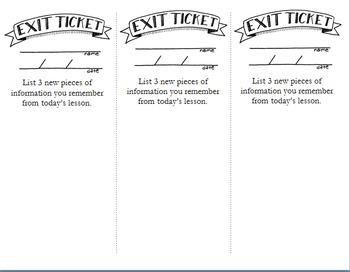 Editable Exit Tickets III