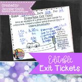 Editable Exit Tickets For All Subjects