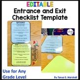 Editable Exit and Entrance Procedures Checklists