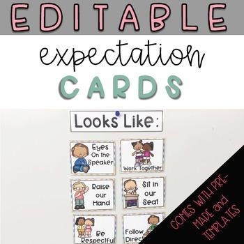 Expectation Cards - Editable