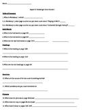 Editable Expert 21 Course 1 Textbook Scavenger Hunt