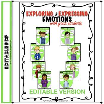 Editable Exploring & Expressing Emotions: Non-Verbal Body Language Worksheets