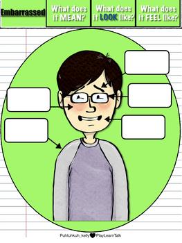 Editable Exploring & Expressing Emotions: Non-Verbal Body Language Worksheets