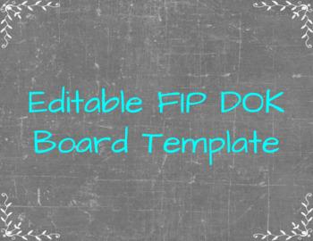 Editable FIP DOK Board Template